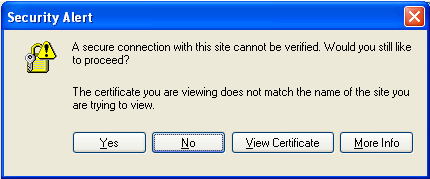 Invalid certificate warning