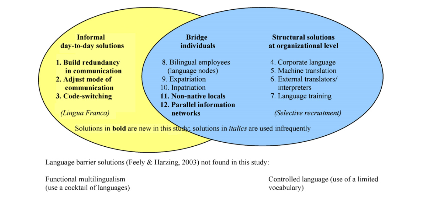 Language barriers in multinational companies