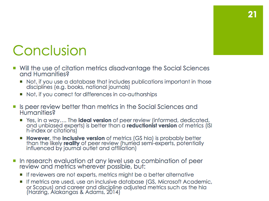 Why metrics can (and should?) be used in the Social Sciences